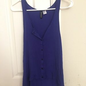H&M divided tank top size 4
